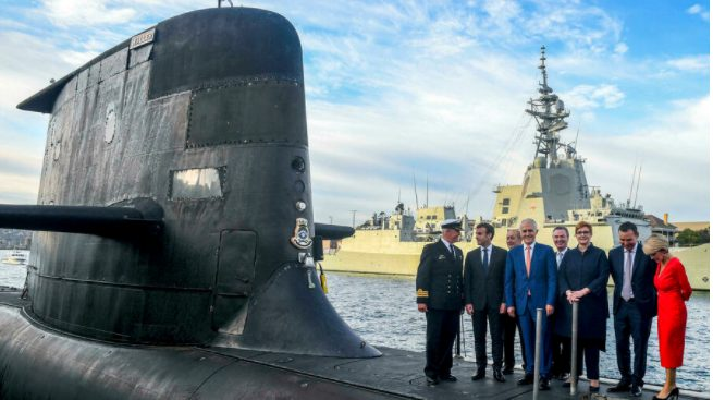France vents over submarines but alone on world stage
