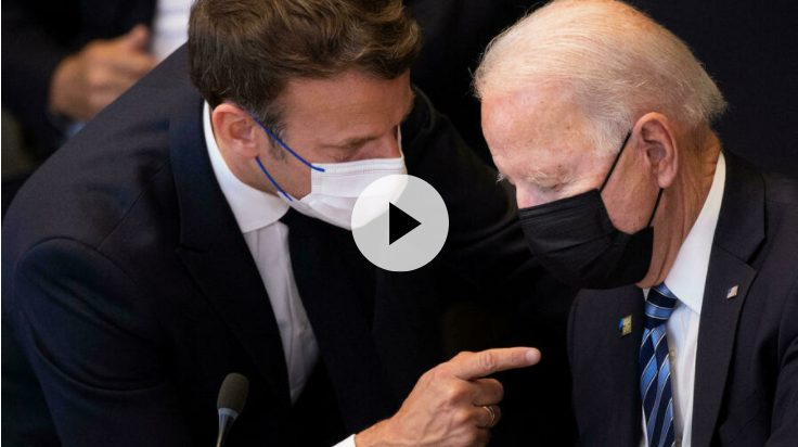 Biden requests phone call with Macron amid submarine spat